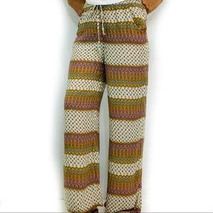 American Eagle Outfitters Boho wide leg pants EUC